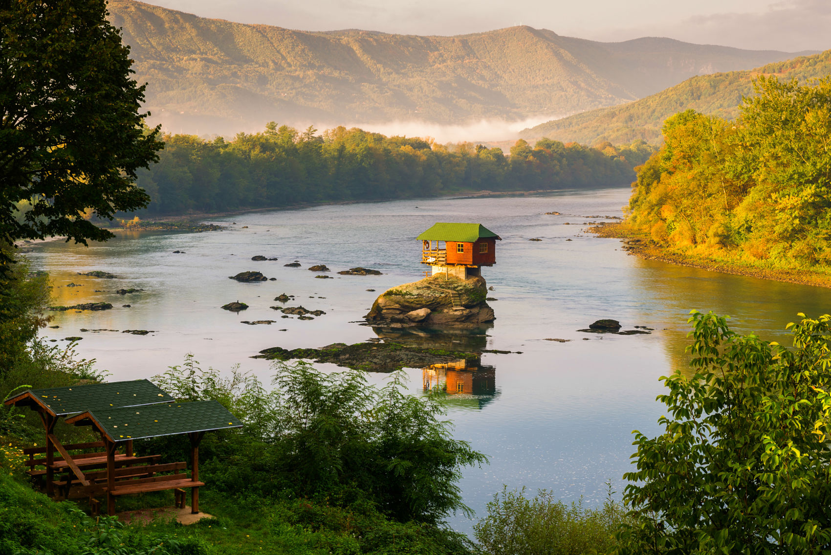 House on Drina river,Serbia tour