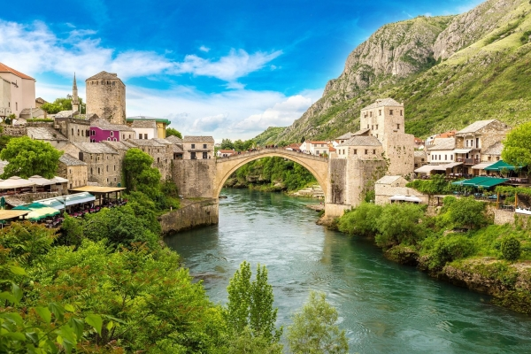 Beautifull Mostar bridge Balkan tour