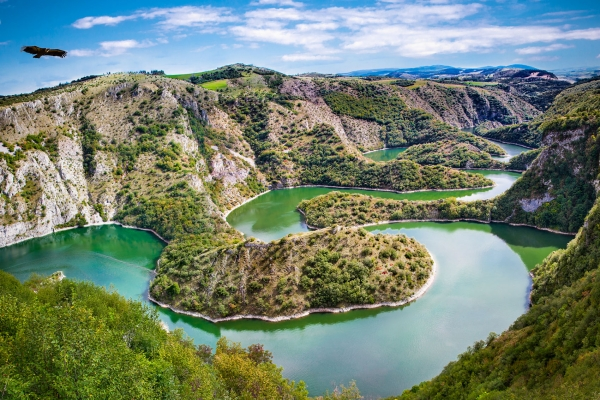 Special nature reserve Uvac beauty of Serbia